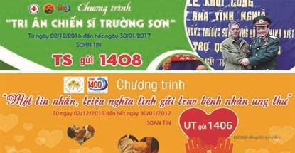 Phat dong nhan tin tri an chien si Truong Son va ung ho benh nhan ung thu