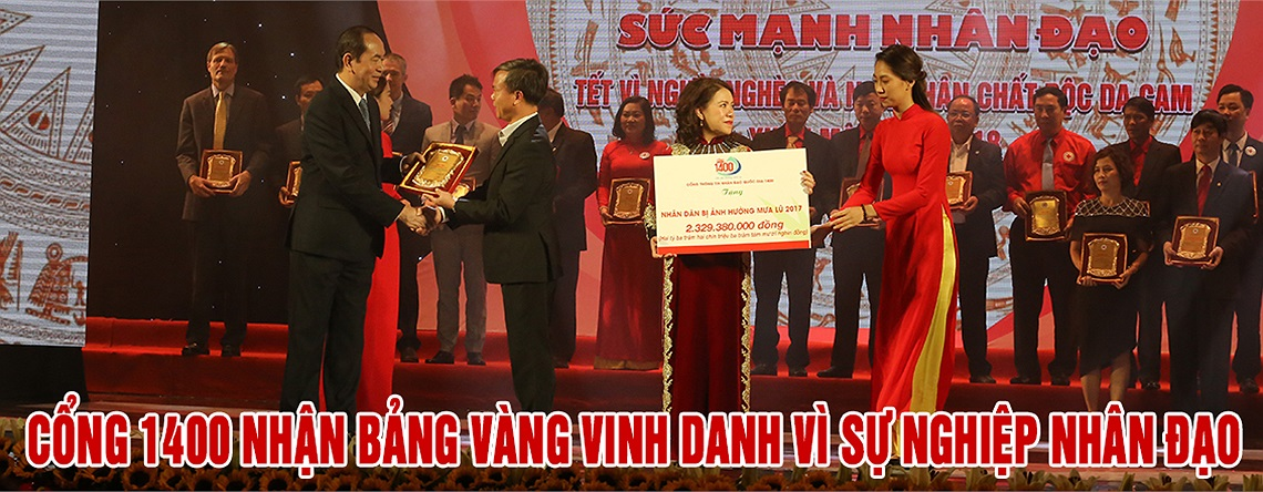 Cổng 1400 nhận Bảng vàng vinh danh vì sự nghiệp nhân đạo
