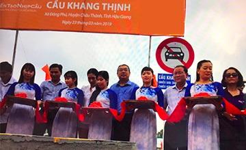 Cầu Khang Thịnh đã được xây dựng từ chương trình năm 2018