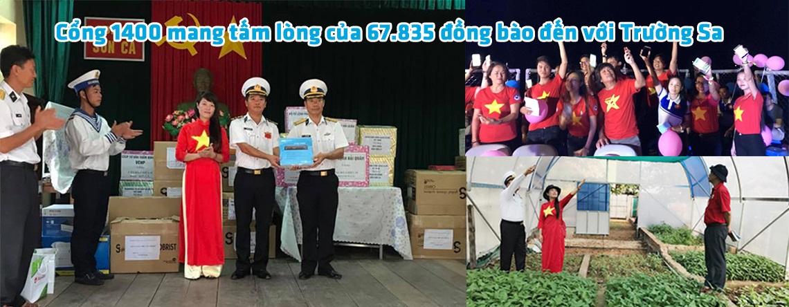 Cổng 1400 mang tấm lòng của 67.835 đồng bào đến với Trường Sa